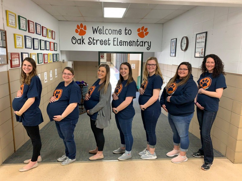 除了醫院婦產科護士之外,堪薩斯州戈達德小學(Goddard Public Schools)也有7名女老師在短期內懷孕。(圖擷自Goddard Public Schools臉書)
