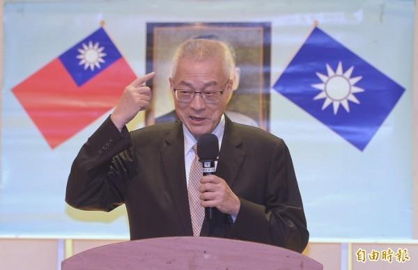 吳敦義以「桃園三結義」形同台灣與美國、中國的關係,被網友砲轟。(資料照)