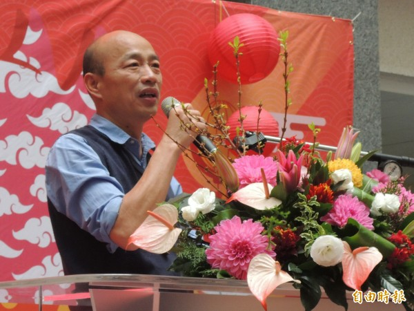 高雄市長韓國瑜在去年競選時,曾發豪語提出高雄市人口10年內成長至500萬的政見。(記者王榮祥攝)