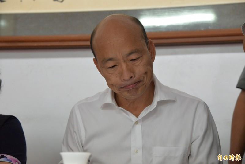 國民黨總統參選人韓國瑜(見圖)沒有出席「古寧頭戰役70週年紀念活動」。(資料照)