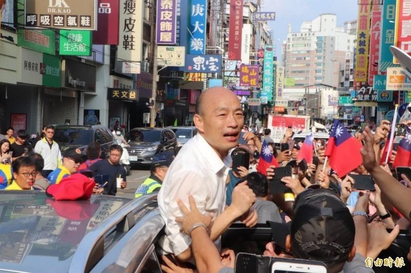 高雄市長韓國瑜在日前《天下雜誌》施政滿意度中敬陪末座,慘成最後一名。(資料照,記者蔡淑媛攝)