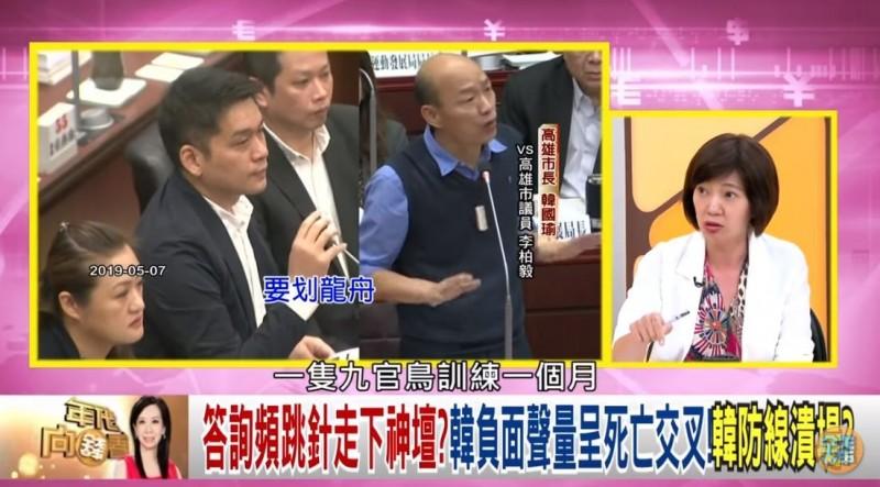姚惠珍認為,韓國瑜若憑講「發大財」3字就可選總統,九官鳥也能參選。(圖擷取自壹電視)