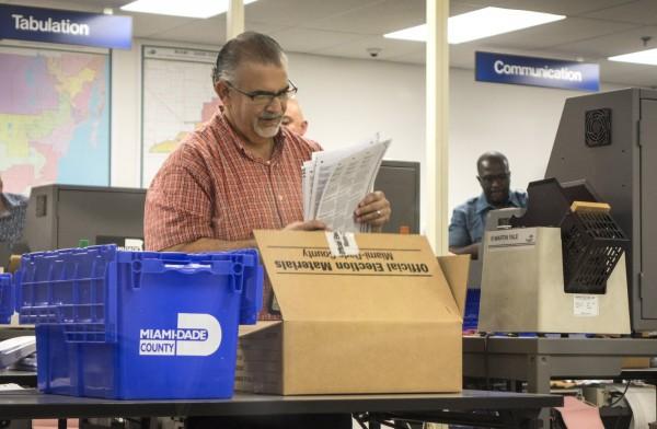 美國佛羅里達州州長與聯邦參議員選舉結果,由於得票差距在0.5%以下,因此將重新計票。(歐新社)