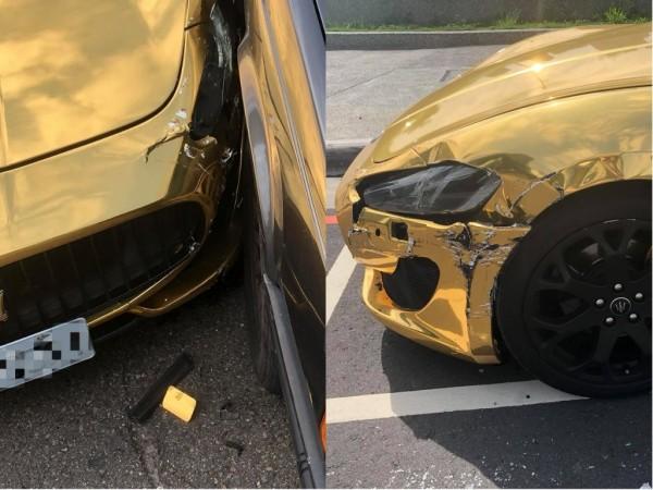 薛女說,「小小碰撞就碰掉了一台全新國產車價格」、「我的瑪瑪要好好休息1個月了」。(圖擷取自臉書)