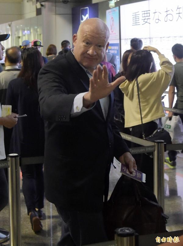 葛特曼說,台北就像他的老朋友,如果還有需要來台北,他不會遲疑地飛過來。(記者黃耀徵攝)