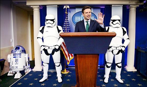 兩年前白宮也曾舉辦過「原力日」。(資料照,路透)