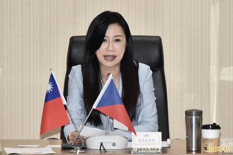立委萬美玲出席立法院今17日舉辦「中華民國與捷克、西班牙國會友好聯誼會」成立大會。(記者塗建榮攝)