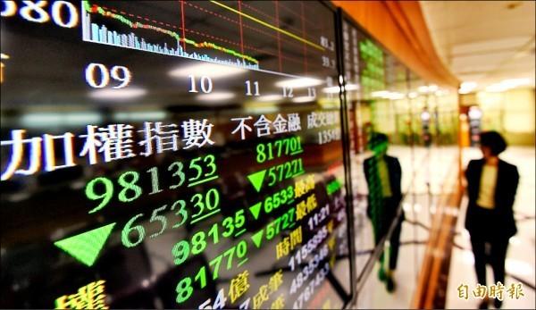 受到美股重挫影響,台股加權指數狂洩660點,創下台股史上最大跌點。(記者劉信德攝)