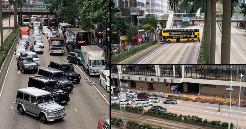 香港主幹道發生多起「熄火」、「車禍」事故。(擷取自《立場新聞》)