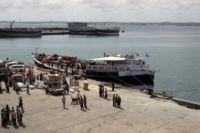 索馬利亞港口城市奇斯馬約(Kismayo)。(路透)