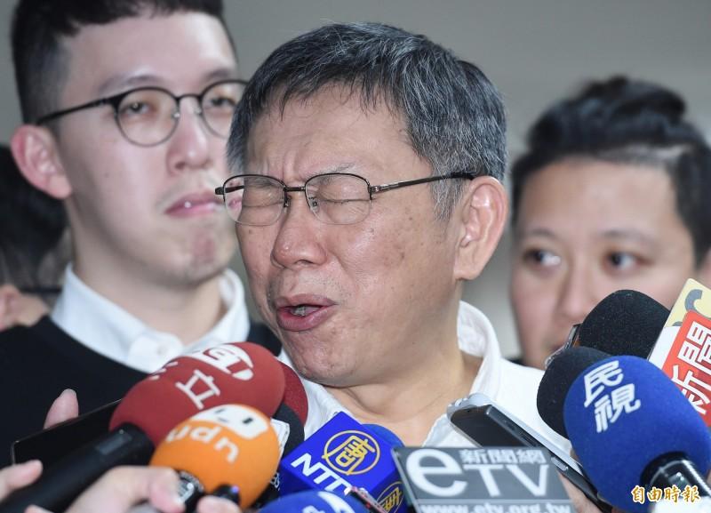 柯文哲今(19)日受訪再大酸總統大選「只有草包跟菜包可以選」,台北市議員王世堅對此則反嗆柯文哲會如此嗆辣是因為已經「沒步了」。圖為柯文哲。(資料照)