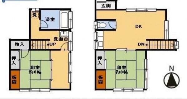 這棟別墅建築物總面積約有23坪。(圖擷自房產公司「株式会社リライト」網站)