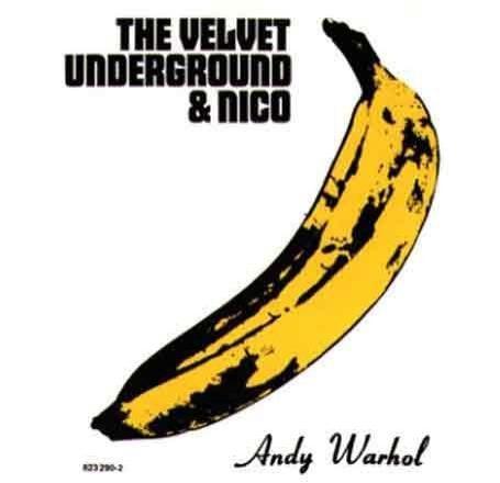普普藝術大師安迪渥荷(Andy Warhol)為「地下絲絨樂團」製作專輯封面,香蕉的標誌廣為人知。(圖擷取自loureed.com)