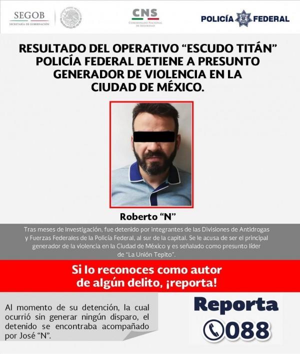 墨西哥政府宣布,已經逮捕了墨西哥最大的犯罪組織首腦莫亞杜。(圖擷自墨西哥警方推特)