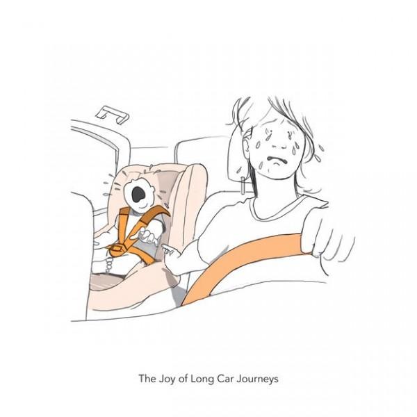 路西下的小標題「長途車程的喜悅」。(圖片擷取自BuzzFeed)