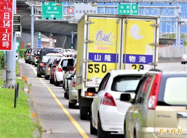 國道5號春節連假期間幾乎天天都塞車;宜蘭縣長林姿妙提議爭取高鐵延伸宜蘭等構想,希望有效解決交通問題。(資料照,記者張議晨攝)