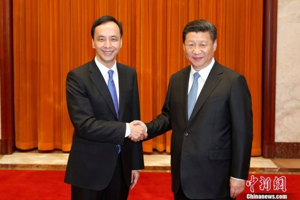 眾所矚目的「朱習會」今天上午10點30分於北京人民大會堂登場。(圖擷取自中新網)