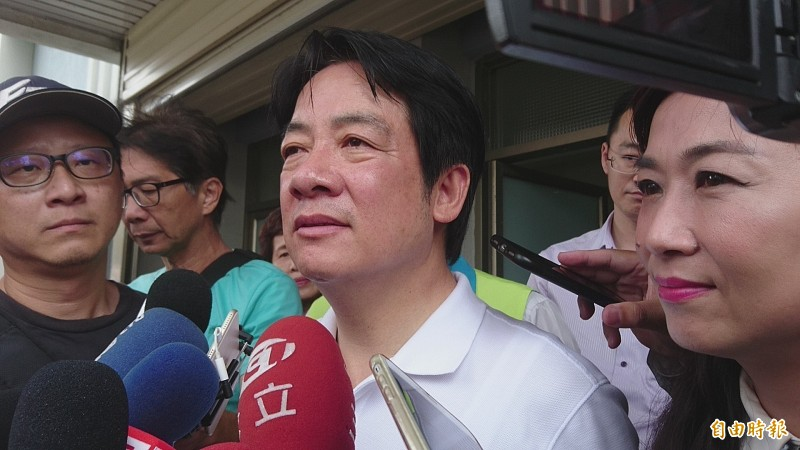 賴清德:接受黨中央總統初選規劃期程