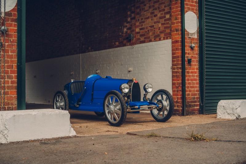 Bugatti推出的迷你電動跑車Bugatti Baby II。(Bugatti 授權)