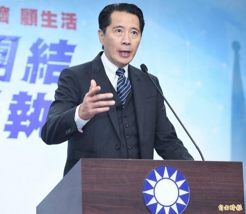 國民黨發言人歐陽龍表示,韓國瑜平常就愛開玩笑,這次唱歌是「娛樂性質比較高」。(資料照)