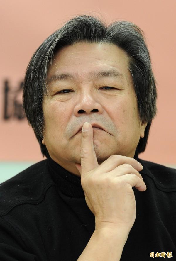 前國策顧問蔡有全,今天下午2點多因為心肌梗塞在家中猝逝,享壽67歲。(資料照,記者劉信德攝)