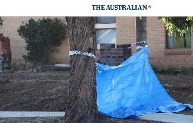 警方20日晚間獲報趕到現場,驚見潔西卡滿臉鮮血,莉塔的頭顱被置於鄰居家門前,屍身則是在家中廚房被發現。(圖擷自THE AUSTRALIAN)