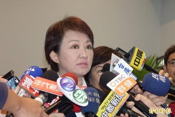 台北市長柯文哲16日將參觀台中花博,台中市長盧秀燕今日表示,來者是客,她會給予高規格接待。(記者廖耀東攝)