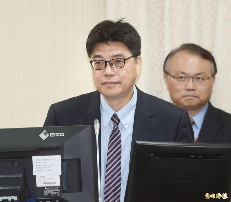 立法院外交及國防委員會2日開會,陸委會副主委邱垂正列席備詢。(記者方賓照攝)
