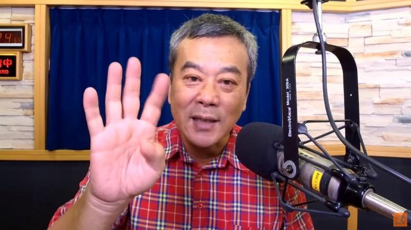 董智森(見圖)說,感謝韓粉,害韓國瑜選不上,並直言韓粉再爽也只剩下4個月了。(圖擷取自九八新聞台YouTube)