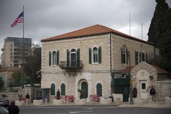 美國國務院昨天(4日)起關閉服務巴勒斯坦人駐耶路撒冷領事館,降級為服務處,併入以色列大使館(見圖)。(美聯社)