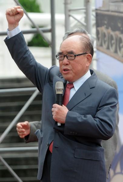 行政院前院長郝柏村抨擊柯文哲為日本皇民後裔。(資料照,記者王敏為攝)