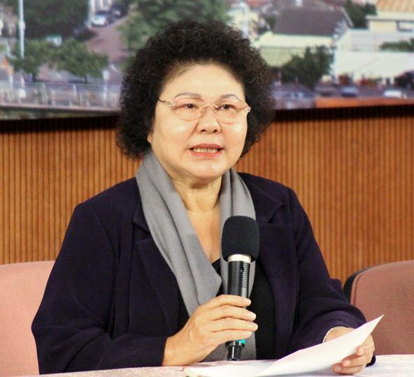 高雄市長陳菊上午重申,支持「對高雄有利」的自由經濟示範區條例。(資料照,中央社記者王淑芬攝。)