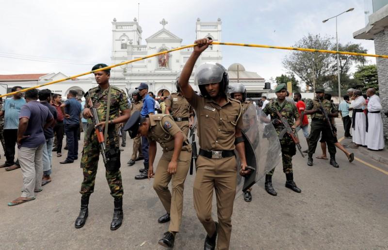 斯里蘭卡今(21)日傳出數座教堂、飯店等地接連發生8次爆炸,傳出嚴重死傷。(路透)