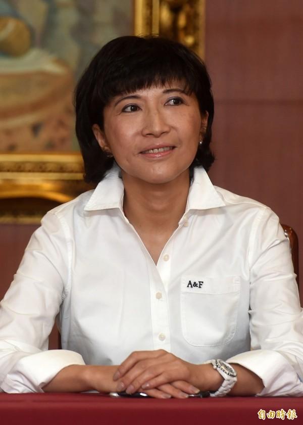 國民黨總統參選人洪秀柱辦公室發言人陳玉梅。(記者簡榮豐攝)