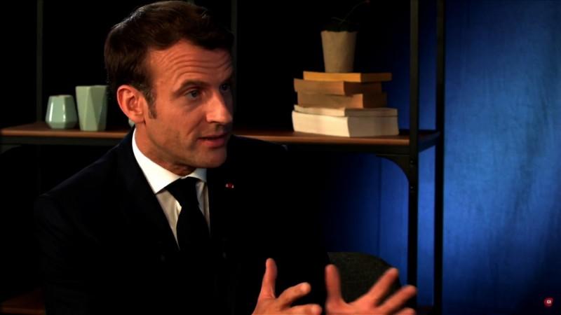 法國總統馬克龍當晚在直播節目中表示,他已經了解里昂發生的爆炸事件,並看到許多民眾對事件的評論,他將這起事件形容為「襲擊」。(法新社)