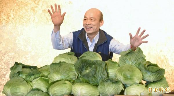台北農產運銷公司總經理韓國瑜宣布參選國民黨主席,表明2018年選舉願意親征台南、高雄等艱困選區。(記者劉信德攝)