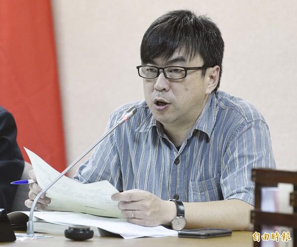 段宜康就曾要求政府機關處理台灣民政府的問題。(資料照,記者陳志曲攝)