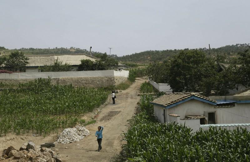 北韓今年平均雨量和降雪量創37年來新低,乾旱問題同時也加劇北韓人民的缺糧危機。(美聯社)