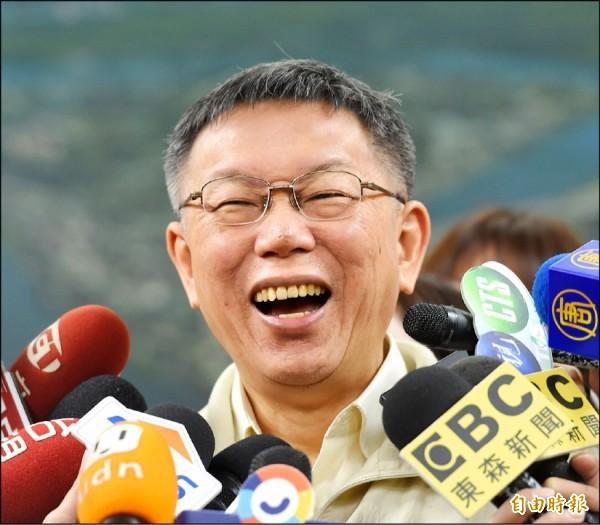 台北市長柯文哲最近接受媒體專訪時提出「強盜說」,批評蔡政府的親美立場,遭到外界解讀柯文哲為親中反美立場。(資料照)