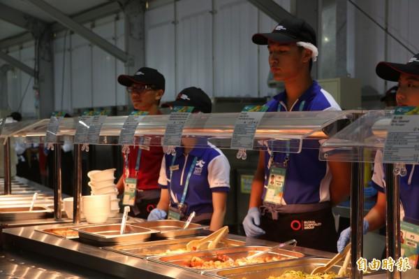 2017台北世大運,在選手村餐廳有不少充滿台味的食物受到歡迎。(資料照,記者粘藐云攝)