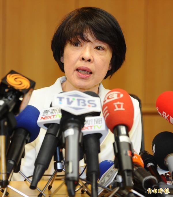 華航空服處副總經理唐慧明今天表示,已備妥600名以上人力支援。(記者張嘉明攝)