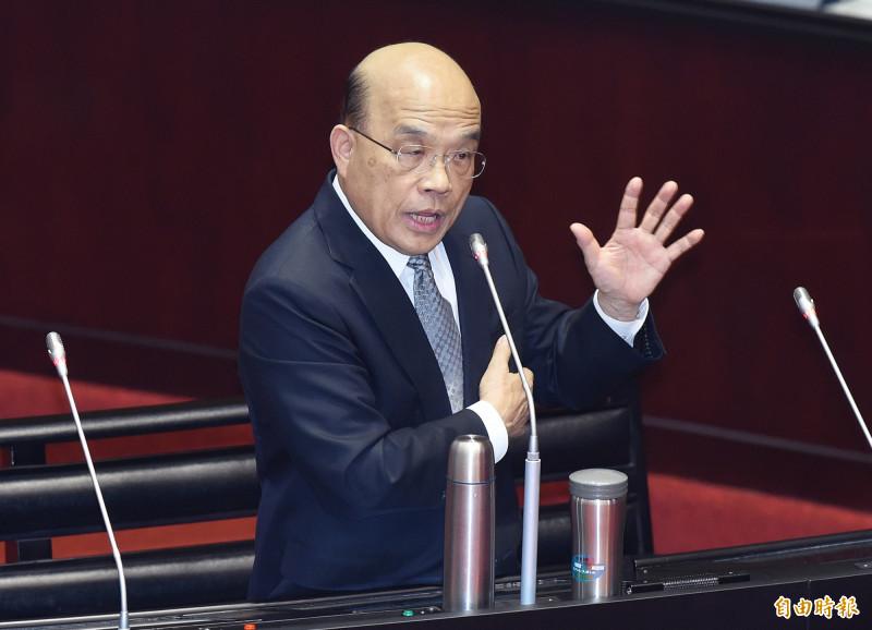 蘇貞昌:港府開槍馬英九沒說過話 雙重人權標準
