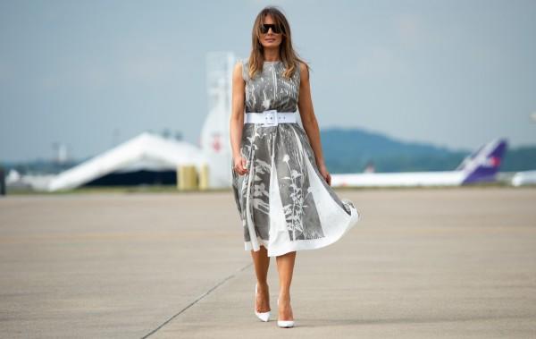 梅蘭妮亞在搭乘空軍一號時觀看CNN頻道,令川普相當生氣。(法新社)