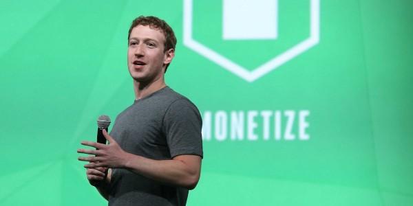 今年4月底,祖克柏在舊金山出席臉書F8開發者大會。(圖擷取自《Business Insider》網站)
