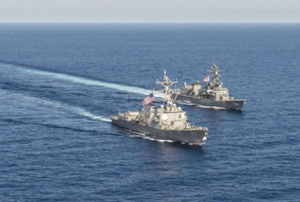 美國海軍今派出驅逐艦至南海執行「自由航行」。(路透資料照)