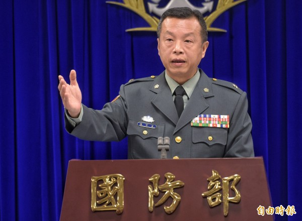 針對繆德生的旌忠狀的致詞,國防部發言人陳中吉說一切合乎規定。(資料照)