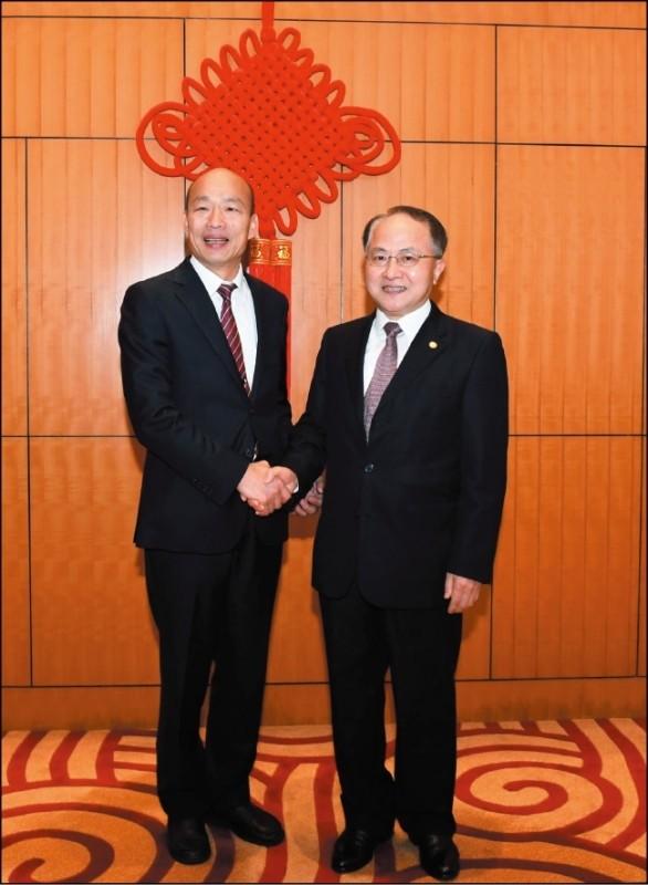 高雄市長韓國瑜、親民黨主席宋楚瑜訪港先後進入香港中聯辦,與香港中聯辦主任王志民會晤。(資料照)