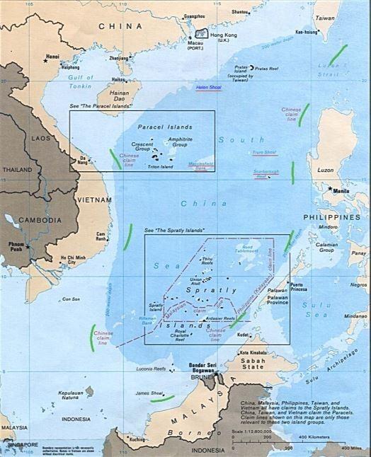 荷蘭海牙常設仲裁法院裁定菲律賓贏得仲裁案,否定中國「九段線」權利。(圖擷自《維基百科》)