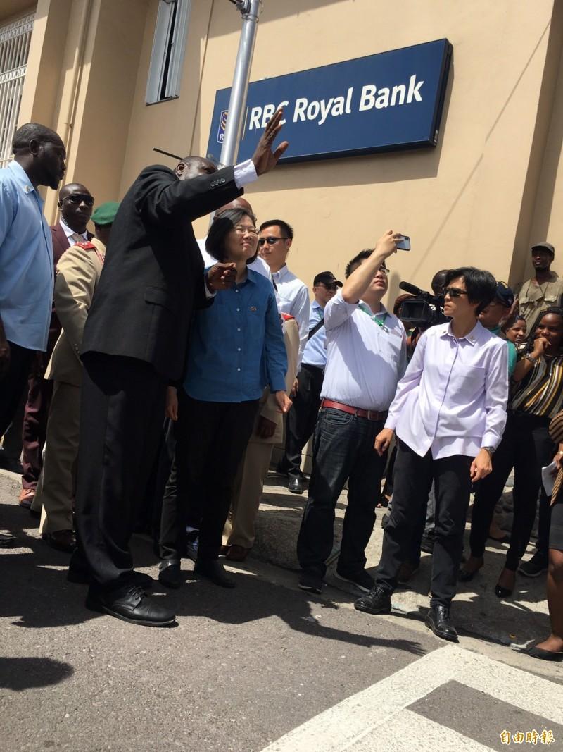 總統蔡英文「民主自由永續之旅」第三天參訪友邦。(記者楊淳卉攝)
