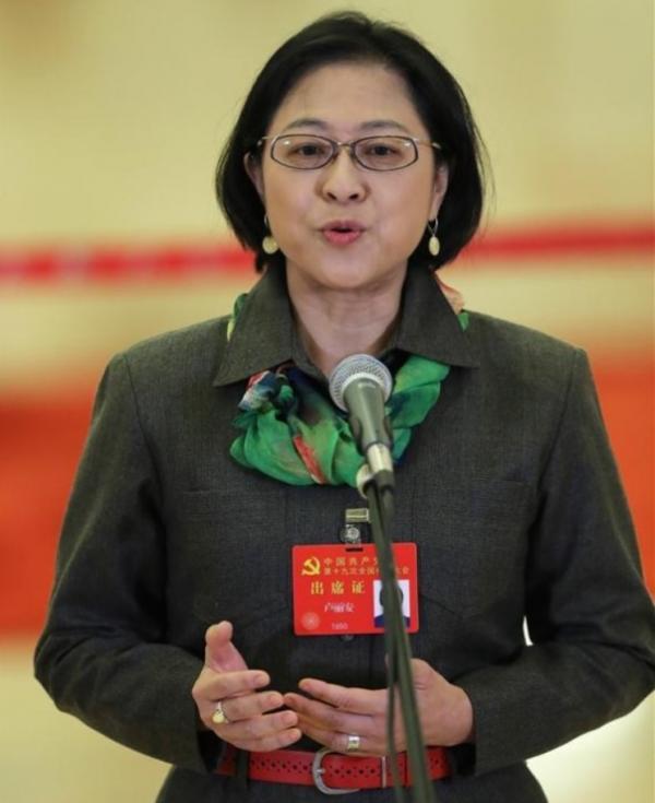中共十九大甫閉幕,出身台灣的黨代表盧麗安與先生的戶籍被取消,家人知道消息後相當錯愕。(圖擷取自新華社網站)